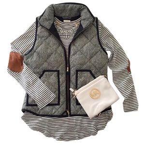J. Crew Herringbone Puffer Vest